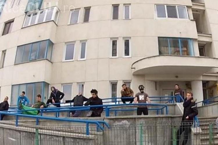 Harlem Shake, dansul DIAVOLESC executat și la Cluj de un grup de tineri - VIDEO