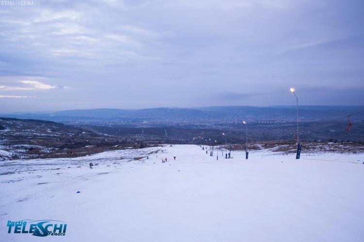 """Pârtia Feleacu este deschisă: """"Condițiile de schiat sunt excelente"""" - VIDEO"""