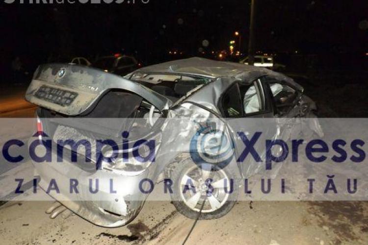Două accidente între Câmpia Turzii şi Viişoara! Şase maşini au fost distruse. Un BMW e bun de dus la fier vechi - FOTO
