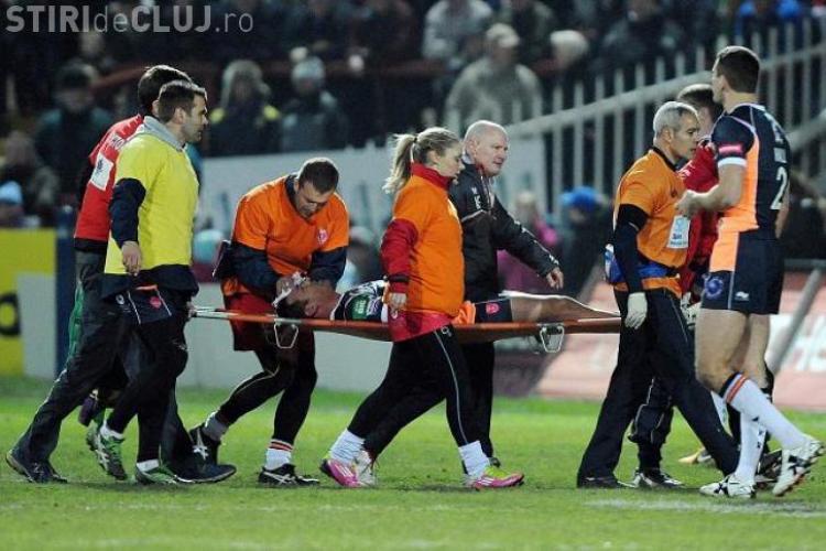 Accidentare ȘOCANTĂ la un meci din Anglia - FOTO
