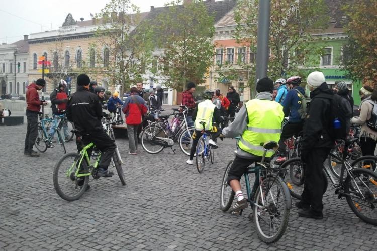 Bicicliștii clujeni IES în STRADĂ, sâmbătă, 16 februarie