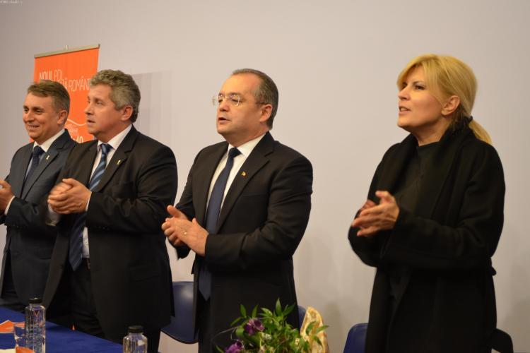 Imnul PDL, Verde Înrourat, a răsunat din nou la Cluj-Napoca! Elena Udrea a făcut atmosferă - VIDEO și FOTO