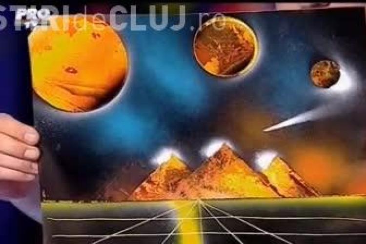 Românii au talent. Un clujean a făcut o pictură spațială - VIDEO