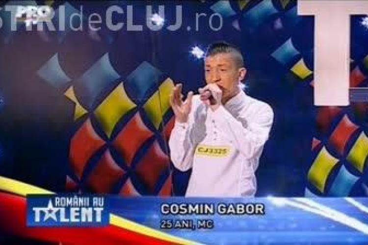 Românii au talent - Clujeanul Cosmin Gabor a cântat UIMITOR - VIDEO