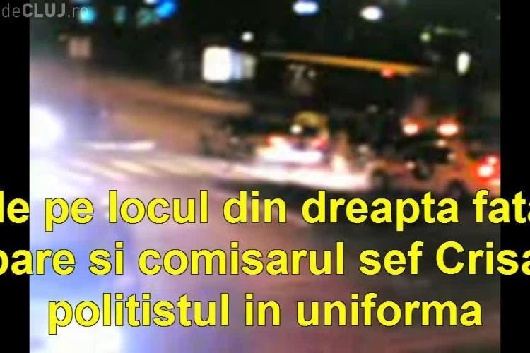 Polițiștii au lovit un pieton în Piața Mărăști, l-au urcat ... pe FURIȘ în mașină și au dispărut - VIDEO