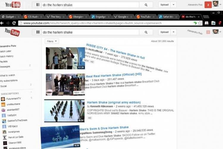 YouTube face propriul Harlem Shake. Vezi aici VIDEO