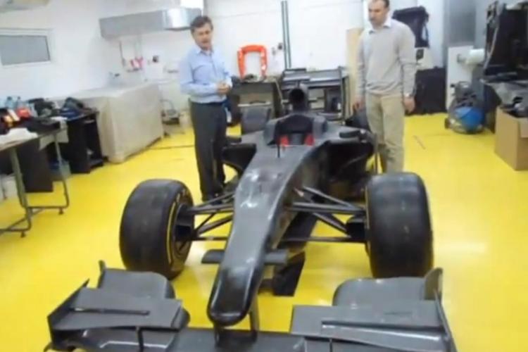 VIDEO cu monopostul de Formula 1 construit la Universitatea Tehnică din Cluj-Napoca