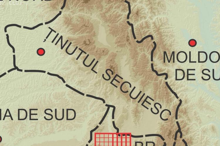 Harta REGIONALIZĂRII României, conform PPMT. Ținutul Secuiesc e rupt de TRANSILVANIA - VEZI HARTA