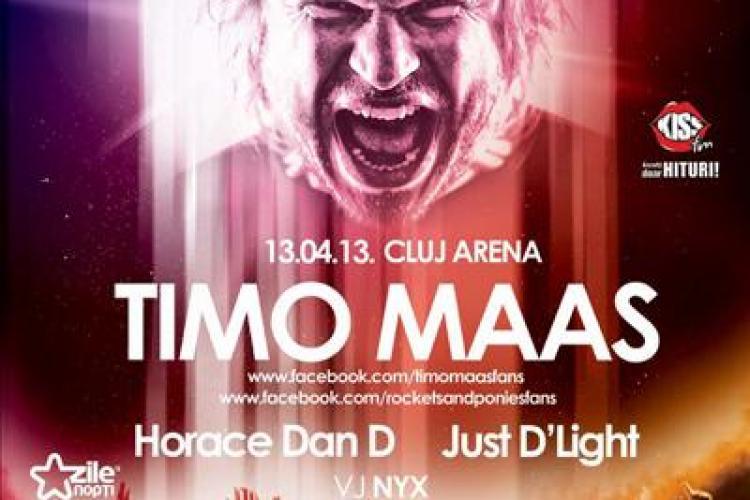 Timo Maas la Cluj Arena, în 13 aprilie