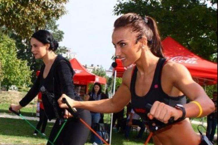 Andreea Marin se apucă de sport. Cea care o supraveghează e Miss Fitness Universe 2011, Anca Bucur - FOTO