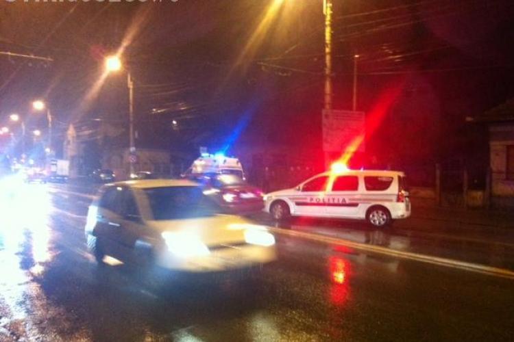 Accident pe Traian Vuia! O persoană a fost lovită pe trecerea de pietoni - FOTO