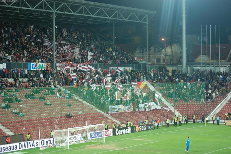 Și CFR Cluj are huligani! Suporteri, interziși la meciul CFR Cluj - Dinamo