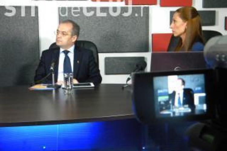 Primarul Emil Boc a vorbit la Știri de Cluj LIVE despre asfaltări, locuințe ANL și investițiile din 2013