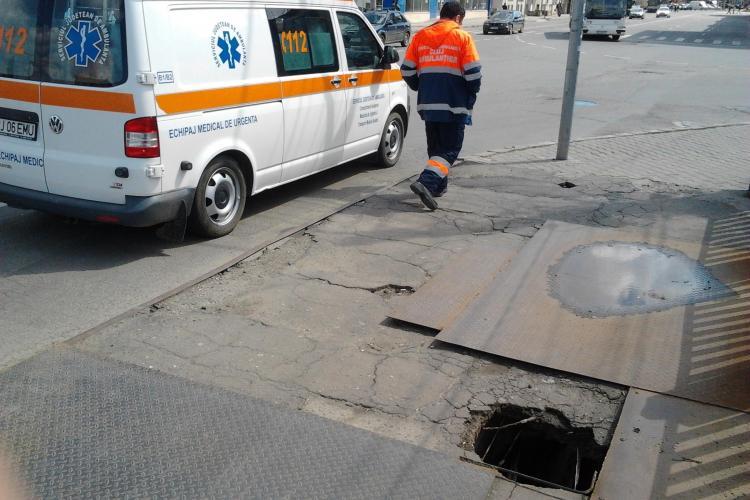 Clujeancă de 83 de ani era să cadă în Someș, prin podul de pe strada Traian. INCREDIBIL ce s-a întâmplat  - FOTO