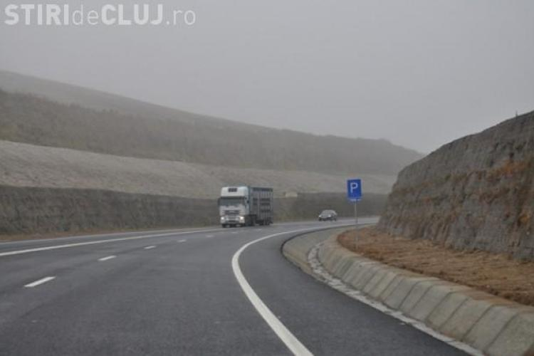 Accident pe centura Vâlcele-Apahida. Un camion s-a răsturnat și a blocat circulația