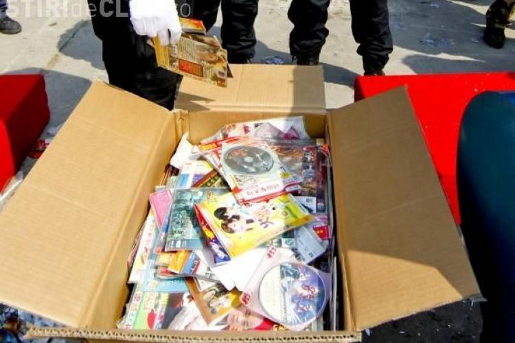 DVD - uri piratate confiscate din Oser de jandarmii din Cluj