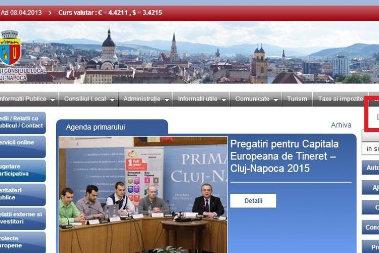 PSD Cluj acuză că site-ul Primăriei Cluj-Napoca este interzis turiștilor străini -FOTO
