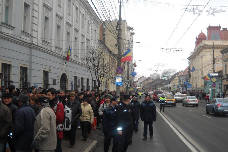 Marș împotriva crematoriului din Mănăștur