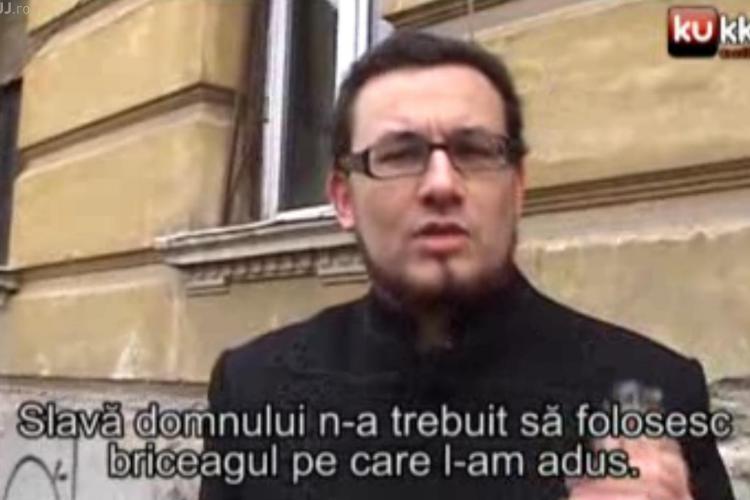 """Ce a pățit un UNGUR, cu un briceag """"la purtător"""", care a cerut pâine în limba maghiară la Cluj-Napoca - VIDEO"""