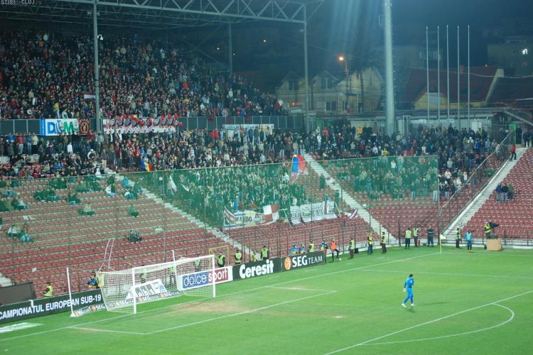 Galeria CFR Cluj s-a împăcat. Maghiarii și românii strigă împotriva Stelei