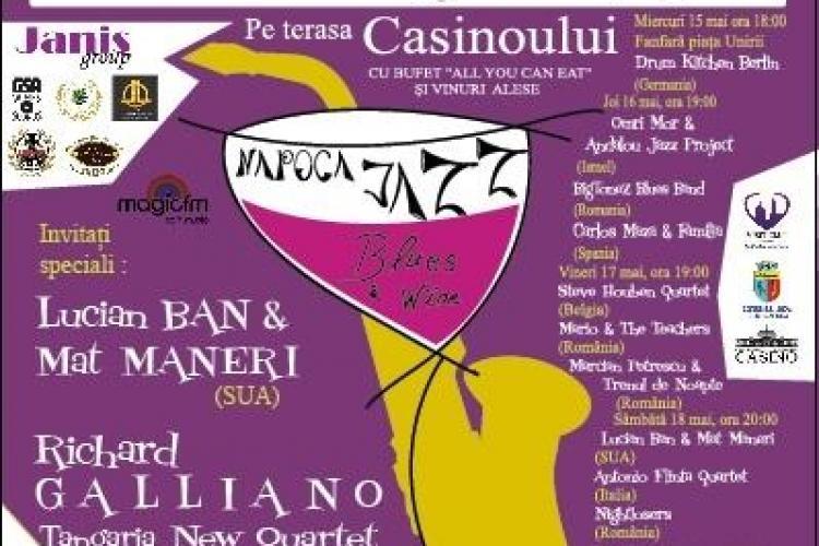 Napoca Jazz, Blues & Wine Festival - Jazz de calitate la Cluj-Napoca în perioada 15 - 19 mai
