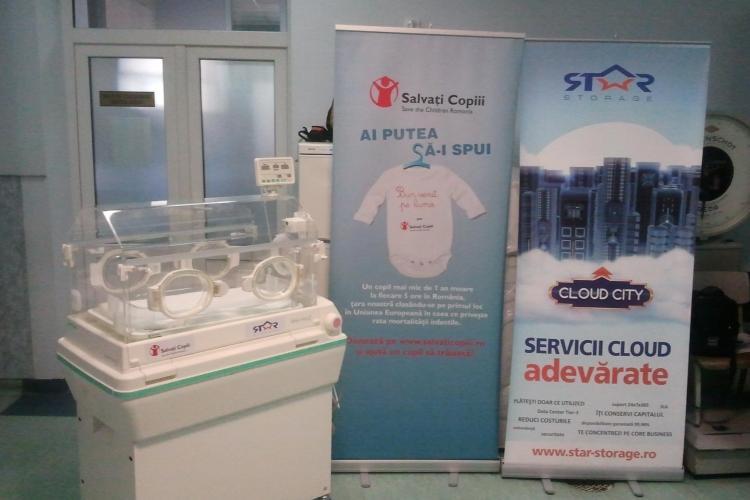 Incubator de 10.000 de euro donat Clinicii Dominic Stanca din Cluj-Napoca - FOTO şi VIDEO
