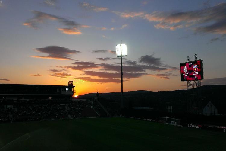 Apus APOCALIPTIC la meciul CFR Cluj - Steaua - FOTO
