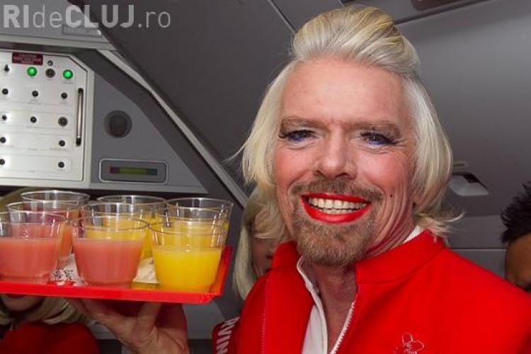 Un miliardar celebru s-a transformat în stewardesă pentru o zi din cauza unui pariu VIDEO