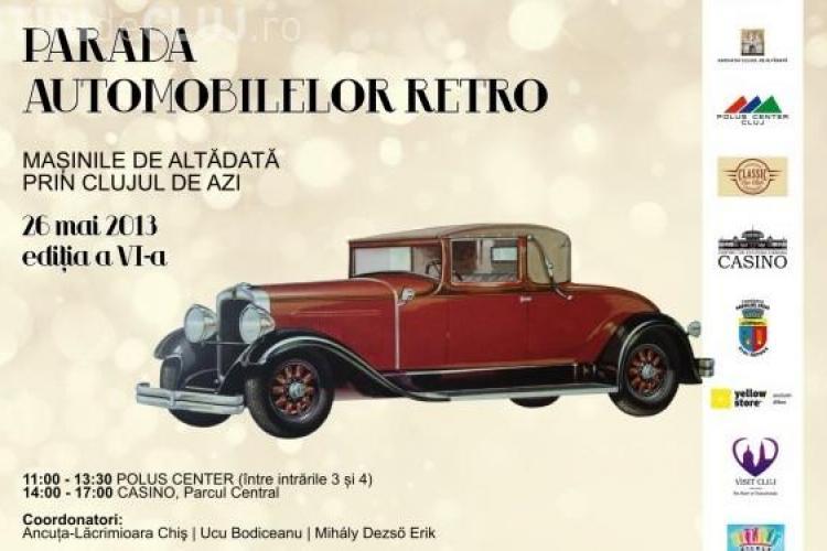 Parada mașinilor retro revine la Cluj în acest sfârșit de săptămână