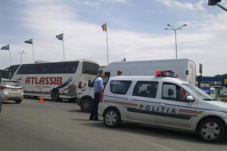 Accident în față la Metro. Traficul a fost blocat până în Florești - FOTO