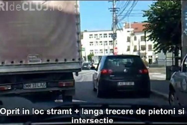 """Smecheri de Cluj! """"Opriri de nesimtiti, pe avarii desigur"""", un nou film care demonstreaza cum se parcheaza in Cluj-Napoca - VIDEO si FOTO"""