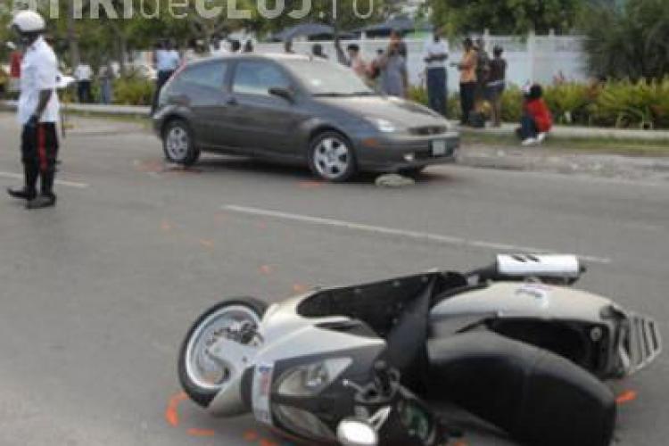 Accident la Capusu Mare. Un cetatean maghiar a lovit un scuter si a fugit de la locul accidentului