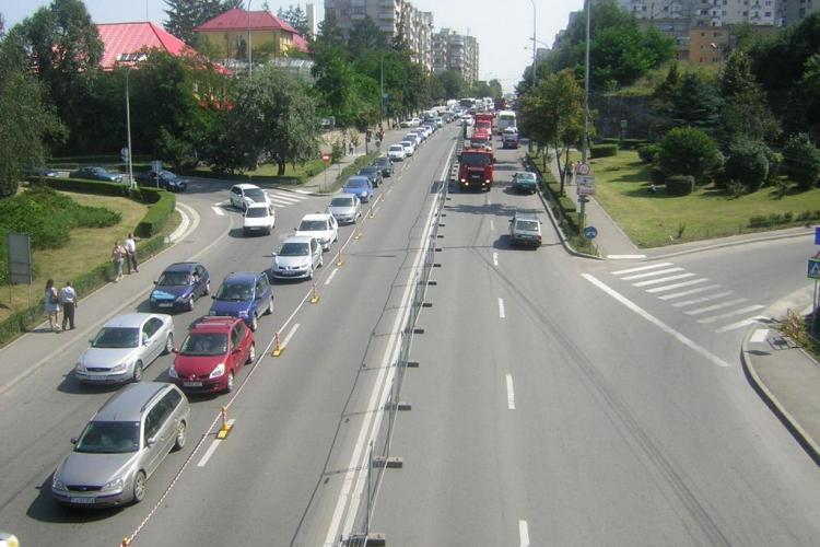 Trafic restrictionat pe DN 1 E 60: Circulatie de cosmar la iesirea din Cluj spre Oradea- GALERIE FOTO