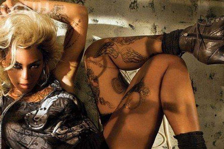 Beyonce, tatuata pe tot corpul pentru a-si promova propria linie vestimentara- GALERIE FOTO
