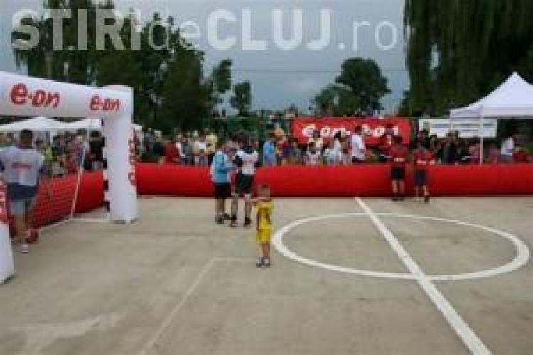 Fotbal in familie in Parcul Rozelor din Grigorescu