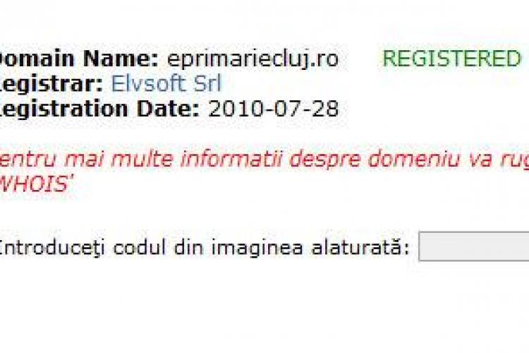 Primaria a luat teapa! Domeniul eprimariecluj.ro a fost cumparat de o firma, dupa anuntul facut de Apostu