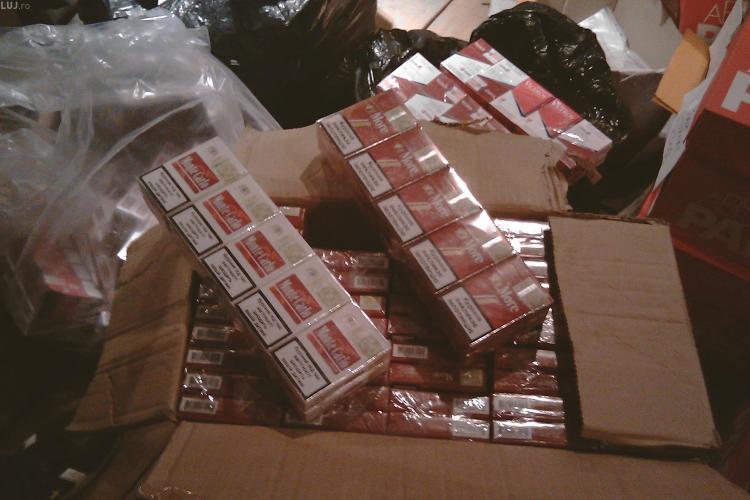VIDEO - Contrabandisti, prinsi la Turda cu 600 de pachete de tigari