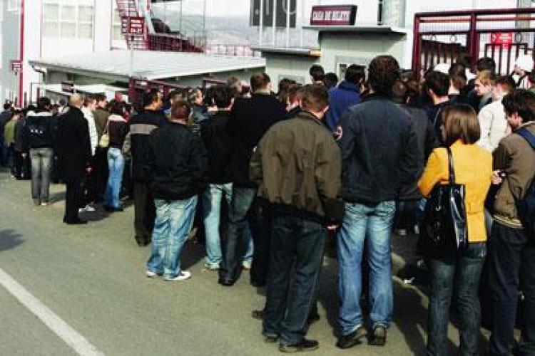 Numai 2.800 de bilete vandute la meciul CFR Cluj - Victoria Branesti