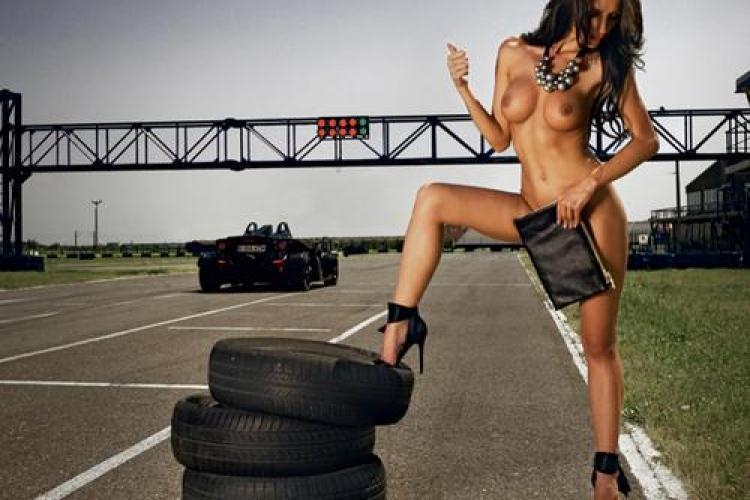 Andreea Necula, pilot de raliu si iepuras Playboy in ipostaze sexy si provocatoare - Galerie FOTO