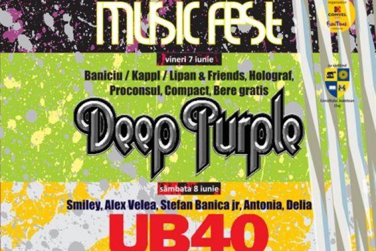 Biletele pentru Deep Purple și UB40 mai pot fi cumpărate astăzi și mâine de la Cluj Arena