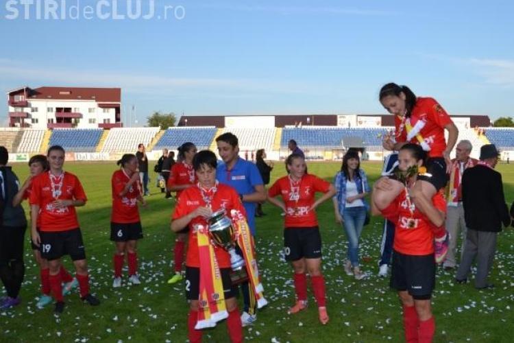 Olimpia Cluj a câștigat și Cupa României la fotbal feminin - FOTO