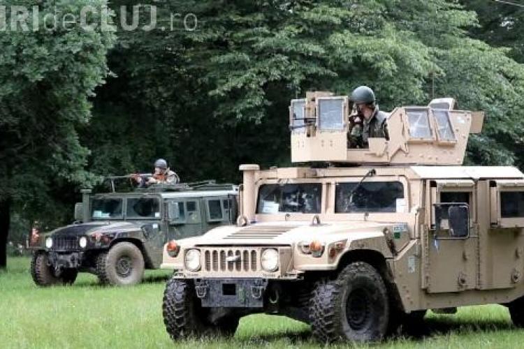 Militarii americani au luat cu asalt Pădurea Bungăr din Cluj - VIDEO