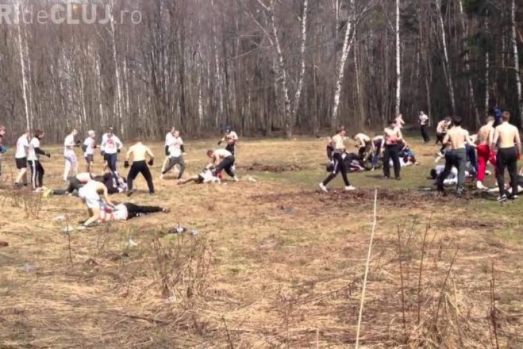 VIOLENȚĂ EXTREMĂ în Rusia: Galeriile de huligani au organizat un campionat de bătăi VIDEO ȘOCANT
