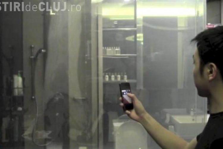 Geamul inteligent care își schimbă opacitatea cu ajutorul smartphone-ului VIDEO