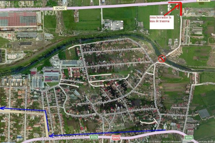 Se închide circulația în Cluj-Napoca. VEZI ZONA afectată