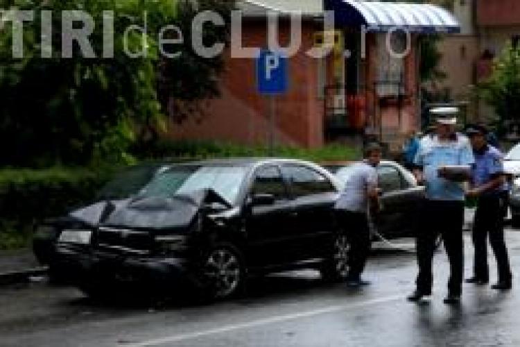 Accident cu patru victime la Dej. Ambii șoferi implicați erau băuți VIDEO