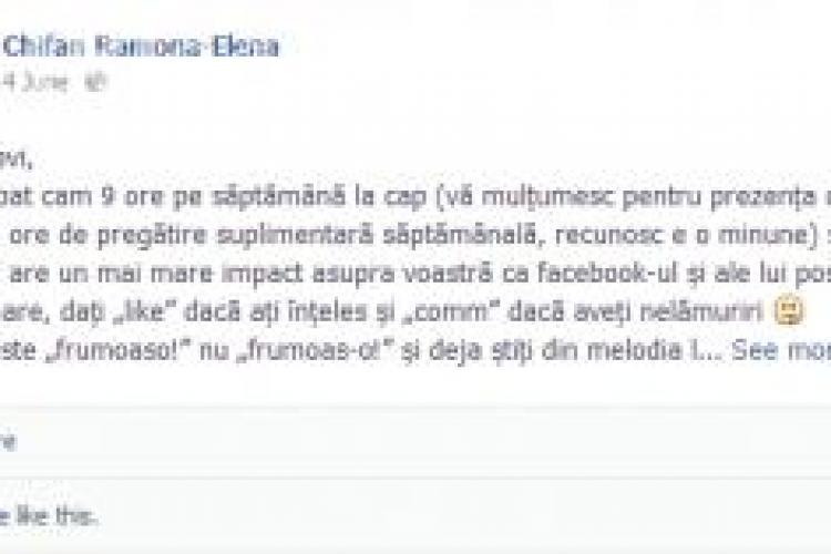 Lecția de gramatică se mută pe Facebook. Vezi ce le-a transmis elevilor o profesoară din România