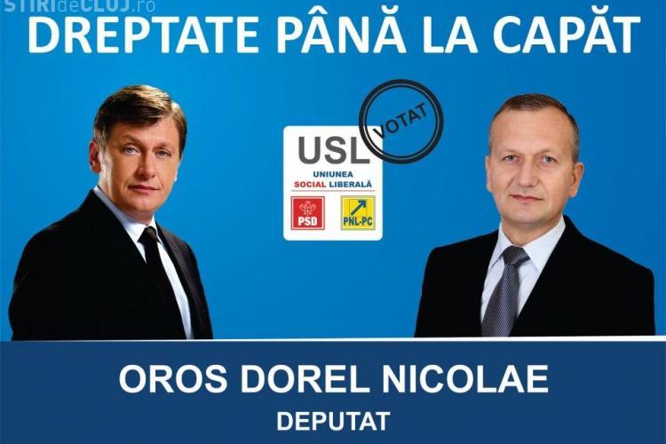 Directorul interimar al Direcţiei Silvice Cluj, Dorel Oros, activist USL, care a candidat pentru un post de deputat