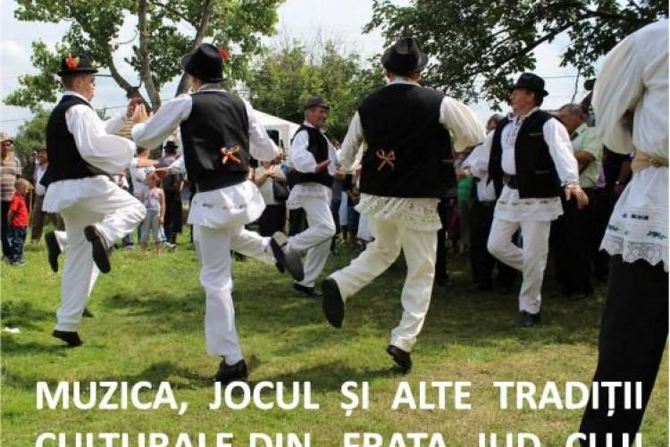 Muzică, jocuri și tradiții populare din satul clujean Frata la Muzeul Etnografic