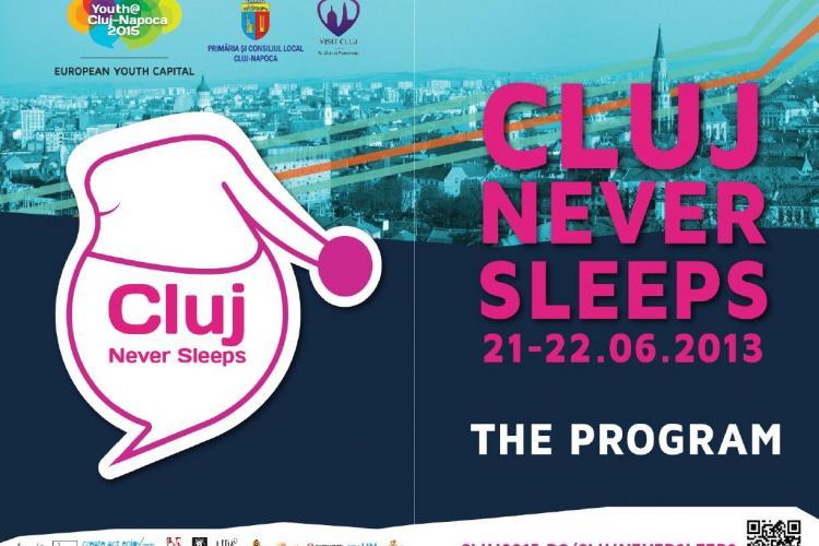 PROGRAM CLUJ NEVER SLEEPS - Vineri, 21 iunie, Clujul nu DOARME